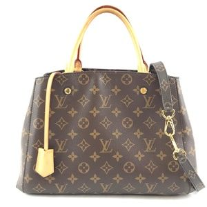 Montaigne Monogram Canvas Shoulder Bag